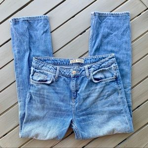 Zara Basic Z1975 High Waist Crop Denim Jeans 4/36